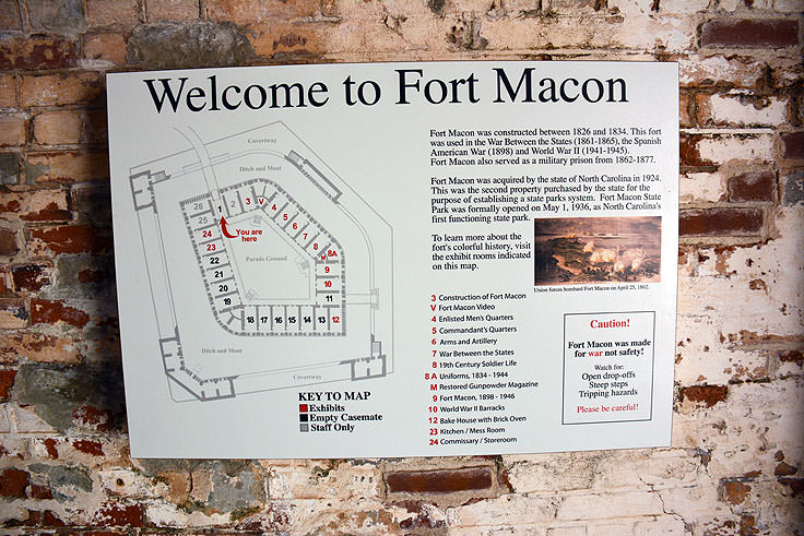 Fort Macon welcome sign
