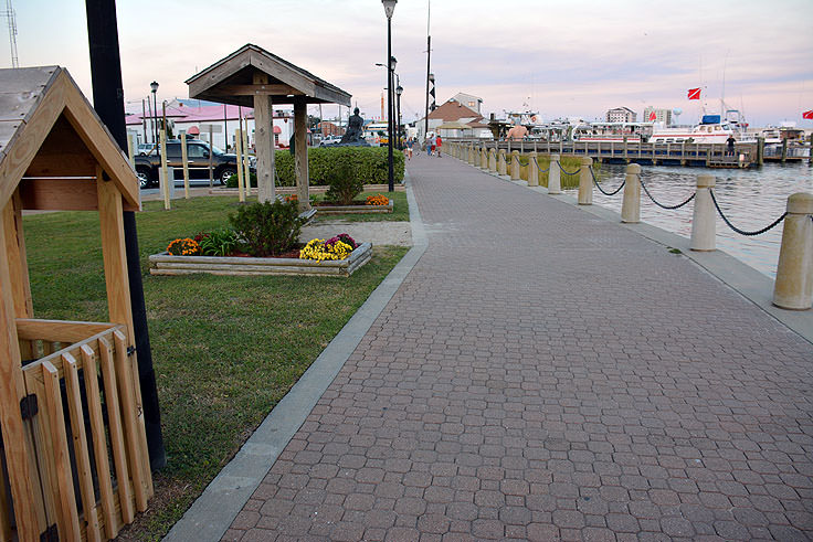 The waterfront at Jaycee Park in Morehead City, NC