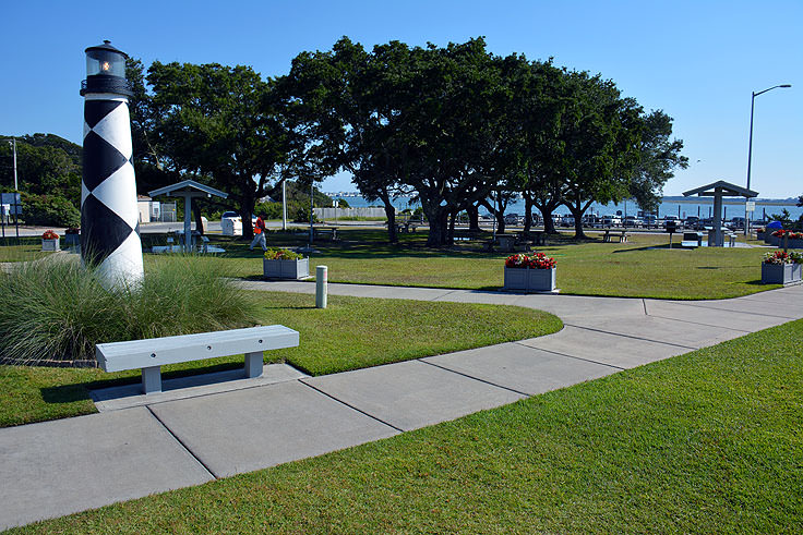 The park behind Crystal Coast Visitor Center
