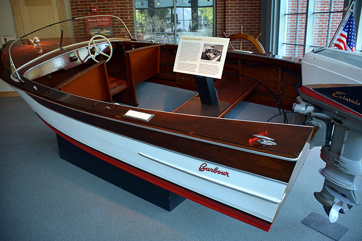 A boat exhibit in the North Carolina History Center