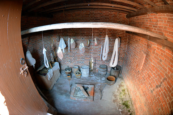 The smokehouse at Tryon Palace in New Bern, NC