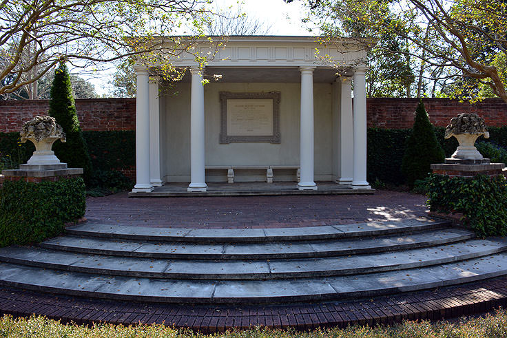 A view from the formal garden at Tryon Palace in New Bern, NC