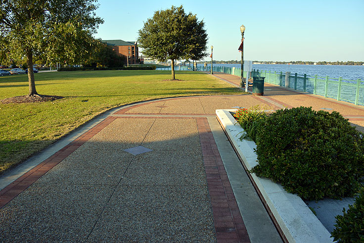 Walkway at Union Point Park in New Bern, NC