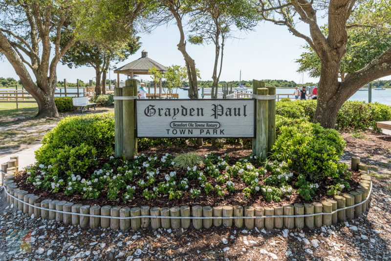 Grayden Paul Park in downtown Beaufort NC